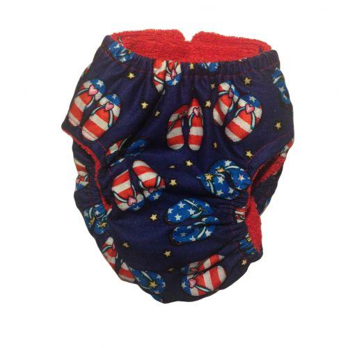 patriotic sandals diaper - back
