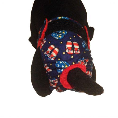 patriotic sandals diaper - model 2