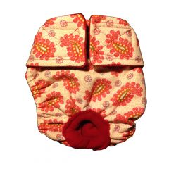 Pink Paisley Spring Roses Washable Cat Diaper