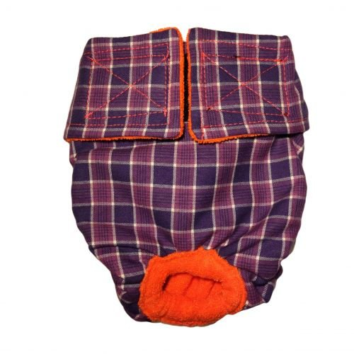 purple checker diaper