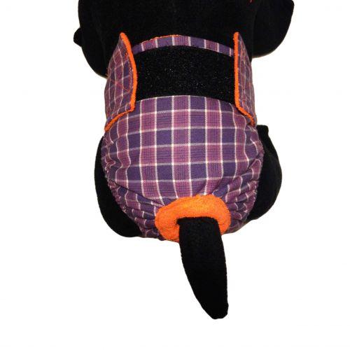purple checker diaper - model 2