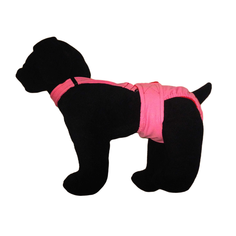 Barkertime Solid Pink Adjustable Suspender To Keep Dog