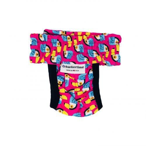 toucan on pink diaper pull-up - back
