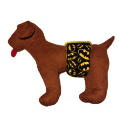 Washable Dog  Belly Band Male Wrap made from Batman fabric