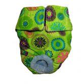 Green Kiwi Flower Washable Cat Diaper