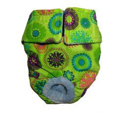 Green Kiwi Flower Washable Dog Diaper