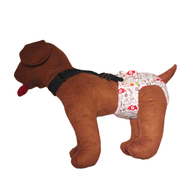 Barkertime Denim Adjustable Suspender To Keep Dog Diapers On