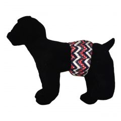 Patriotic Chevron Washable Dog Belly Band Male Wrap