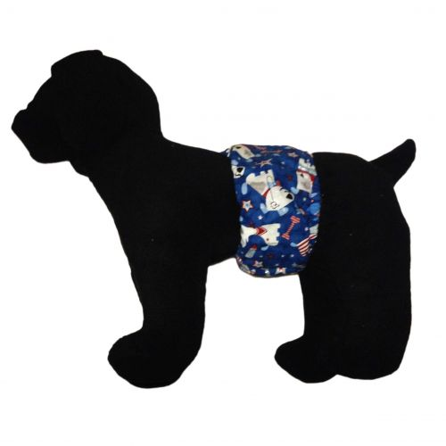 patriotic doggie with glitter belly band - model 1