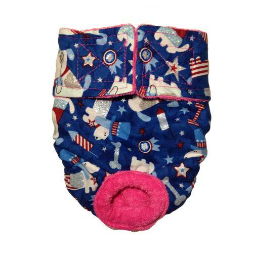 patriotic doggie with glitter diaper