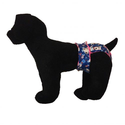 patriotic doggie with glitter diaper - model 1