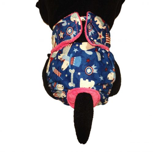 patriotic doggie with glitter diaper - model 2