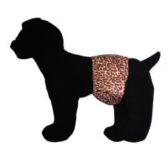 Pink Leopard Premium Waterproof PUL Washable Dog Belly Band Male Wrap