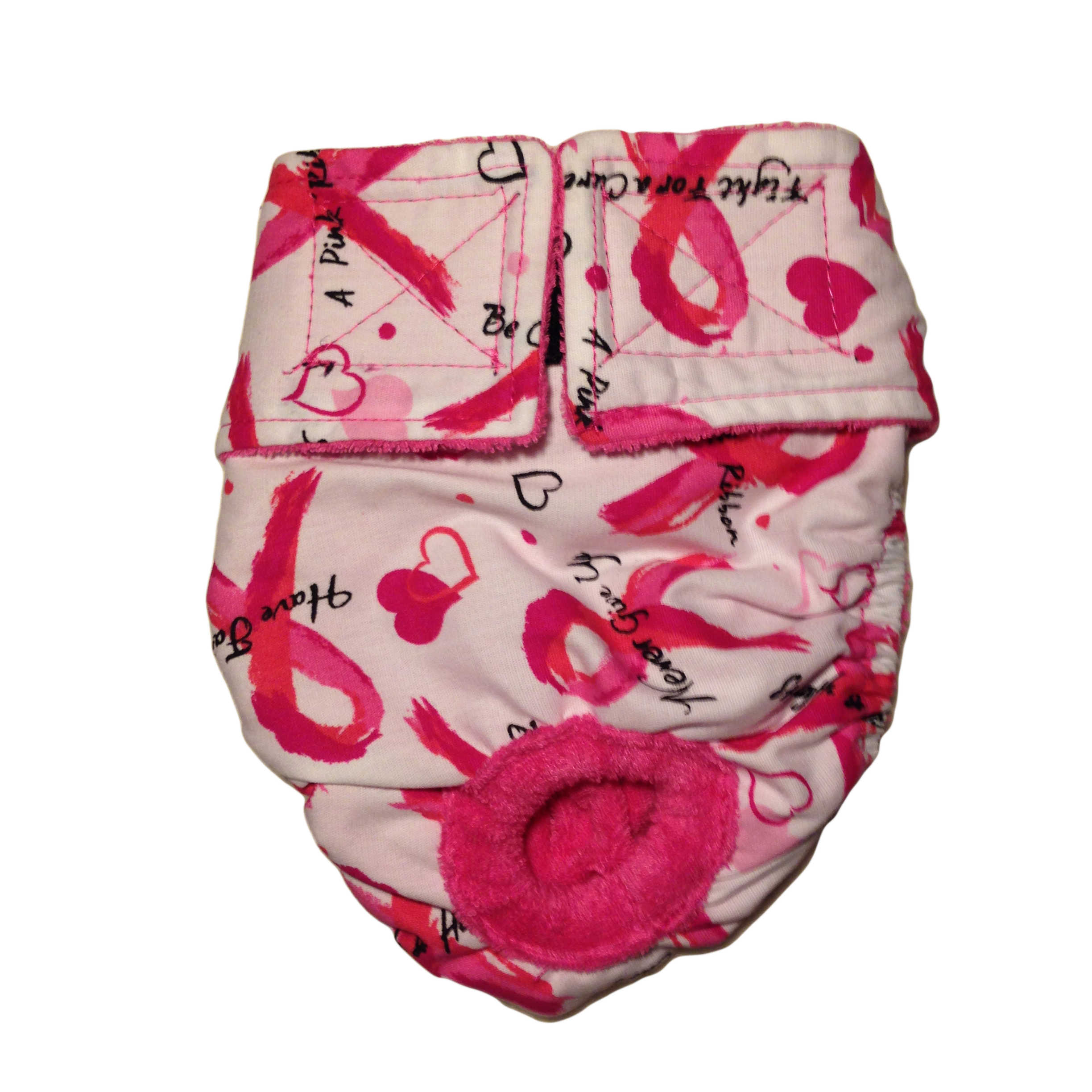 Barkertime Pink Ribbon Washable Cat Diaper Made In Usa