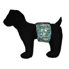 Swirly Square Washable Dog Belly Band Male Wrap