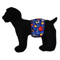Ball Games Washable Dog Belly Band Male Wrap