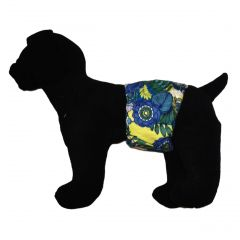 Blue Flower Blossom Washable Dog Belly Band Male Wrap