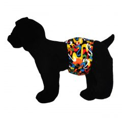 Colorful Swirls Washable Dog Belly Band Male Wrap