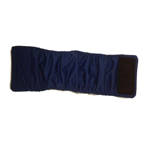dark blue PUL belly band - full
