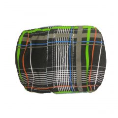 Gray Plaid Neon Stripes Washable Dog Belly Band Male Wrap
