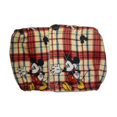 Washable Dog Belly Band Male Wrap made from Mickey Plaid fabric