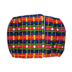 Red and Blue Check Plaid Washable Dog Belly Band Male Wrap