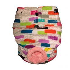 Multi Color Backsplash Washable Cat Diaper