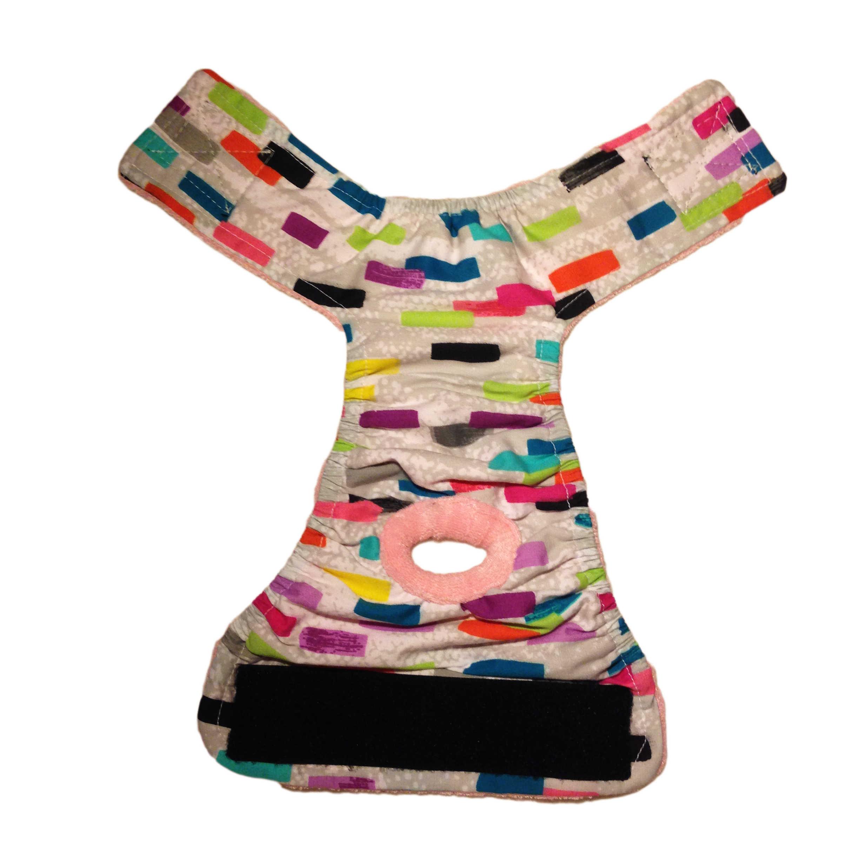 Barkertime Multi Color Backsplash Washable Cat Diaper