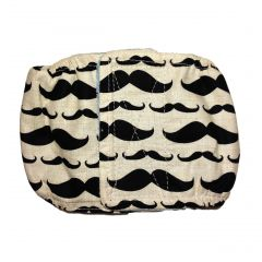 Mustache Washable Dog Belly Band Male Wrap