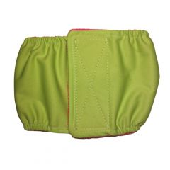 Neon Green Premium Waterproof PUL Washable Dog Belly Band Male Wrap