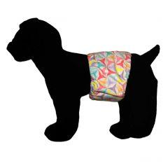 Pastel Pinwheel Washable Dog Belly Band Male Wrap