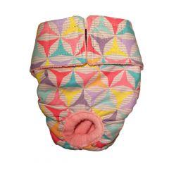 Pastel Pinwheel Washable Dog Diaper