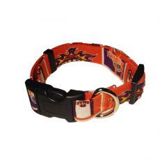 Dog Collar made from Phoenix Fire Fabric