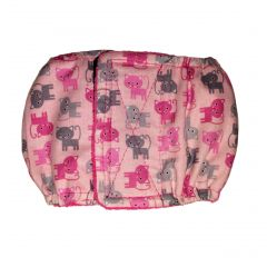 Pink Kitty Washable Dog Belly Band Male Wrap