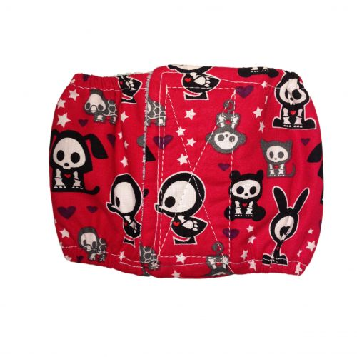 skelanimals on red belly band