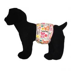 Spoiled Rotten Sweet Baby on White Washable Dog Belly Band Male Wrap