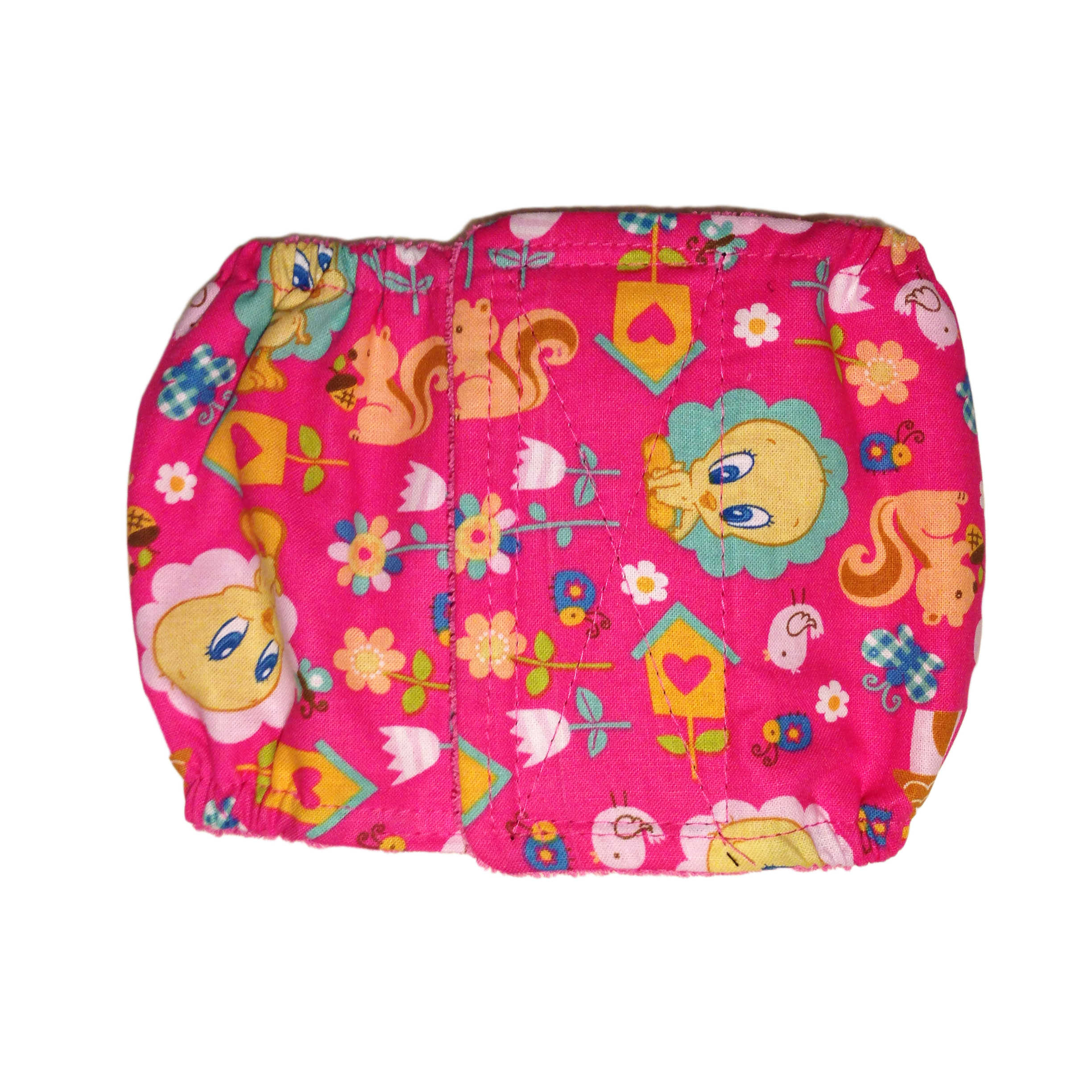 barkertime tweety bird on pink washable dog belly band male wrap. Black Bedroom Furniture Sets. Home Design Ideas