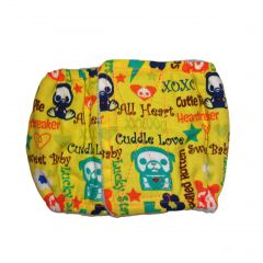 Yellow Skeleton Figures Cuddle Love Washable Dog Belly Band Male Wrap