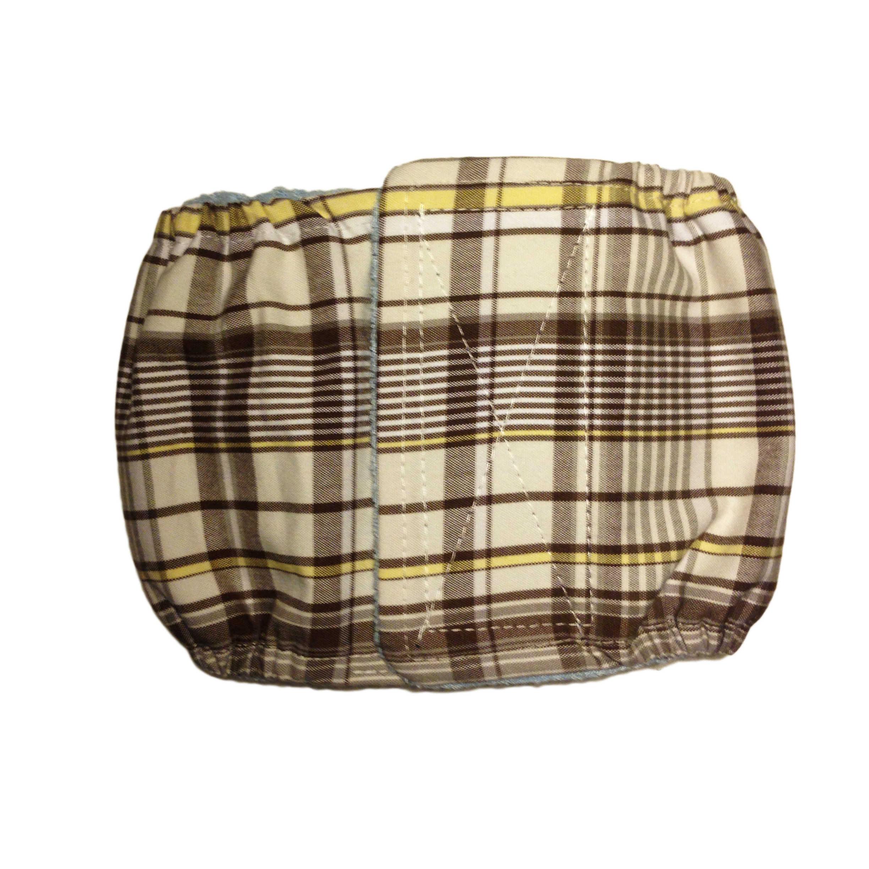 barkertime brown plaid washable dog belly band male wrap. Black Bedroom Furniture Sets. Home Design Ideas