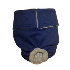 Dark Blue Premium Fully Waterproof PUL Washable Cat Diaper