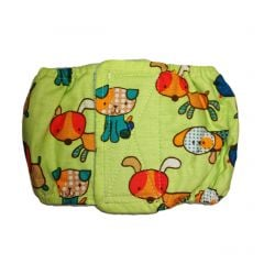 Funky Dog on Green Washable Dog Belly Band Male Wrap