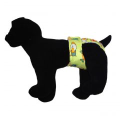Funky Dog on Green Washable Dog Diaper