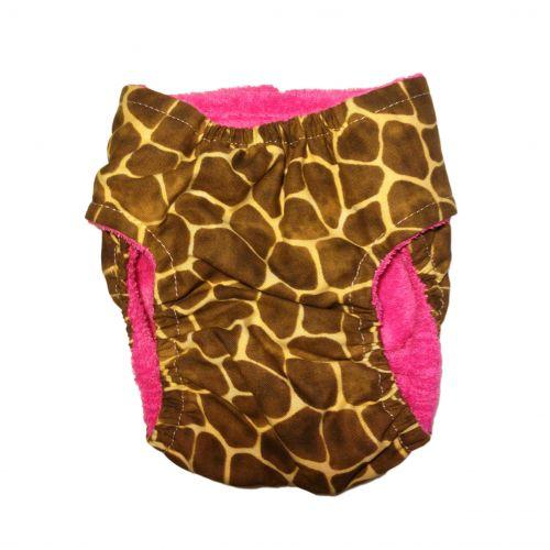 giraffe diaper - back