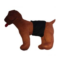 Black Washable Dog Belly Band Male Wrap
