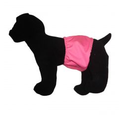 Solid Pink Premium Waterproof PUL Washable Dog Belly Band Male Wrap