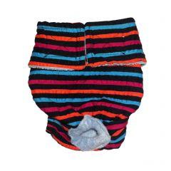 Stripes on Black Washable Dog Diaper