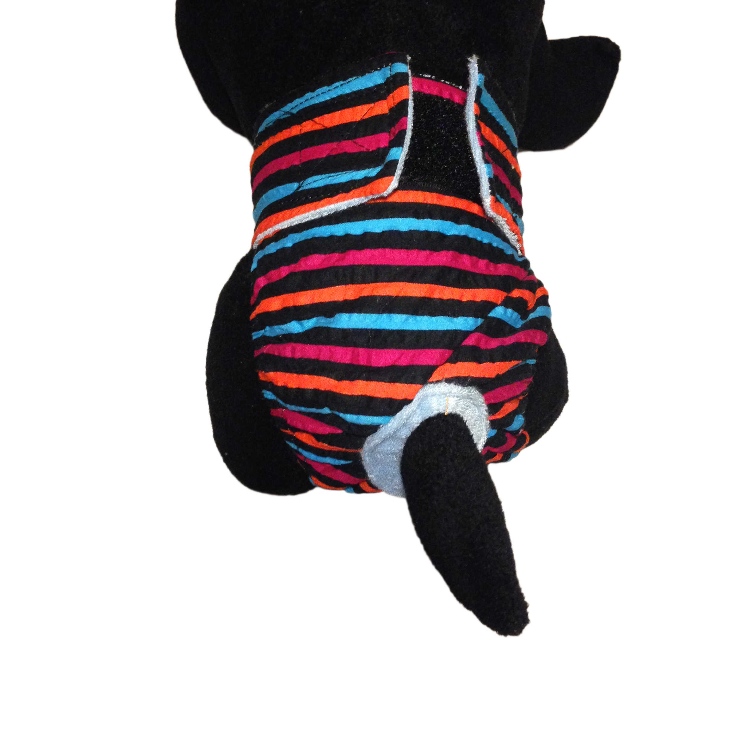 Barkertime Stripes On Black Washable Cat Diaper Made In Usa