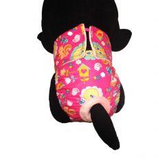 Tweety Bird on Pink Windows Washable Cat Diaper