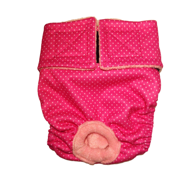 Barkertime White Polka Dot On Pink Premium Waterproof