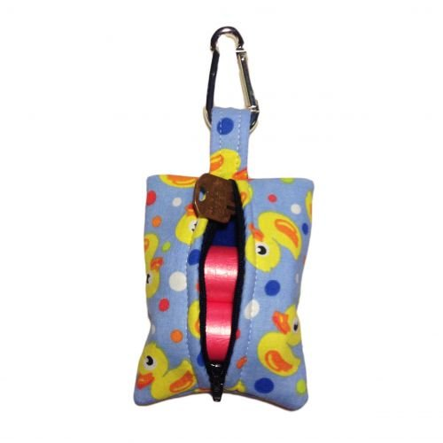 duckie poop bag dispenser - back open